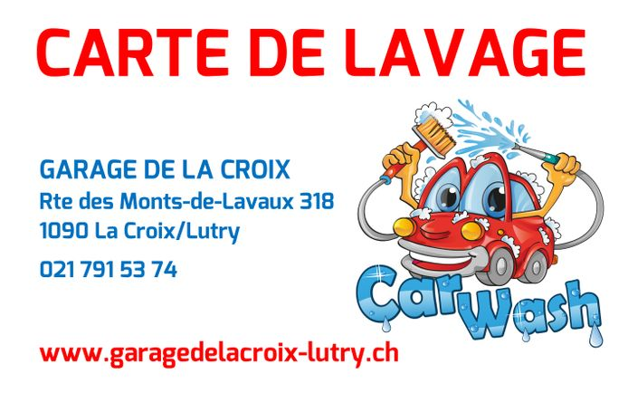 Carte lavage, tunnel, carwash, lutry, lavaux, hypromat,